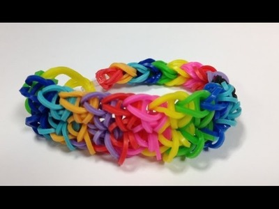 Bandaloom: How to make a Double Rhombus Bracelet.