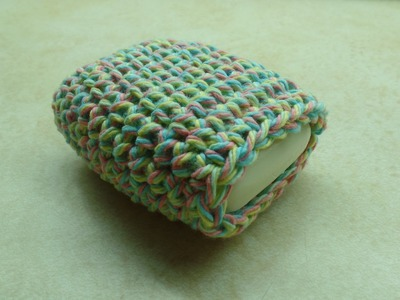 #Crochet Easy Cotton Soap Sock Washcloth #TUTORIAL