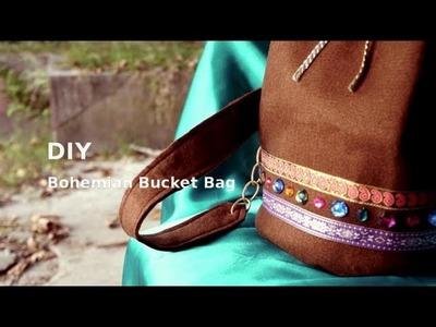 DIY Bohemian Bucket Bag