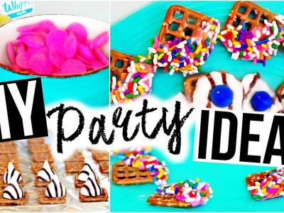 DIY PARTY IDEAS ♡ Snacks, Drinks & More!