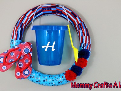 DIY SUMMER POOL NOODLE WREATH. Collaboration with Craft Klatch