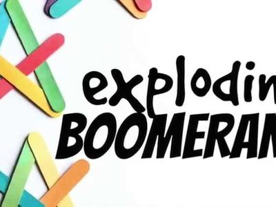 Exploding Boomerangs with Craft Sticks