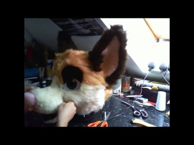 Fursuit Head Tutorial - Time Lapse - Part 5 - Furring 3