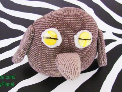Hand Made Owl Created With Sock Fabric, Thread, Buttons - Misfits Craft Book Home Made Toy Animal