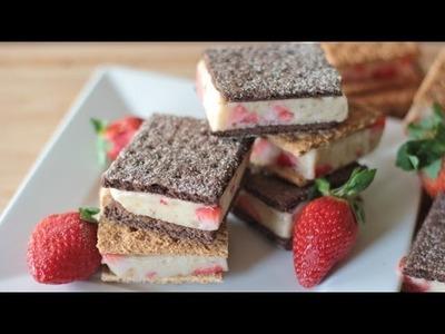 "Healthy ""Ice Cream"" Sandwiches Recipe (Strawberry Banana)"