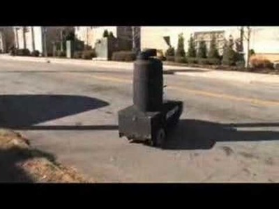 Homemade security robot with watergun lol