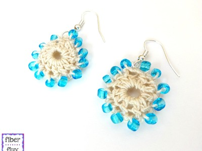 How To Crochet Beach Wedding Earrings, Episode 213