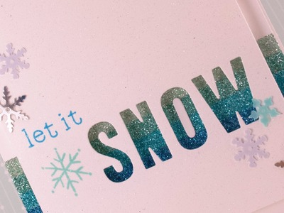 How to: Make a Negative die cut Holiday Card