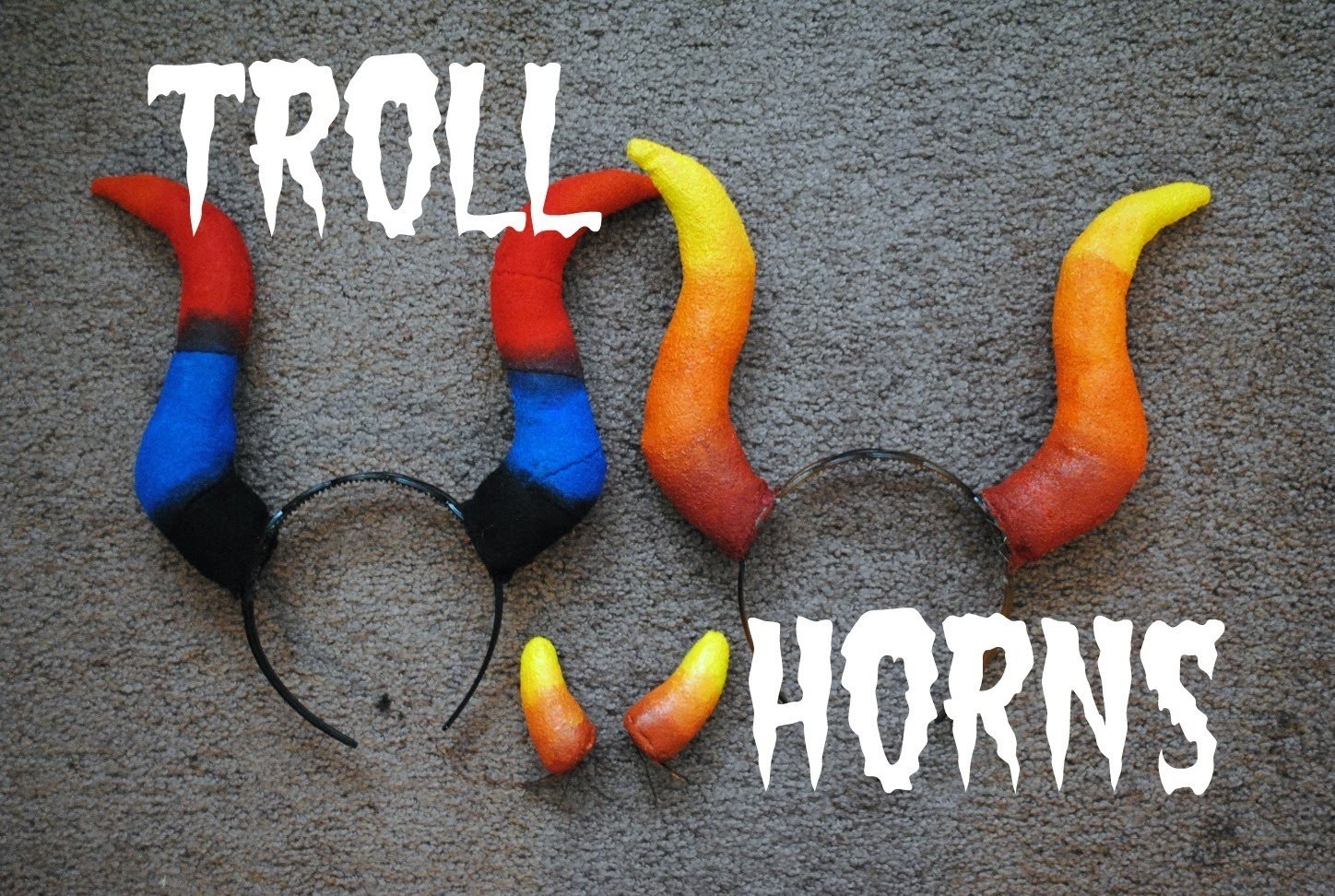 How to Make Troll Horns OUT OF FABRIC