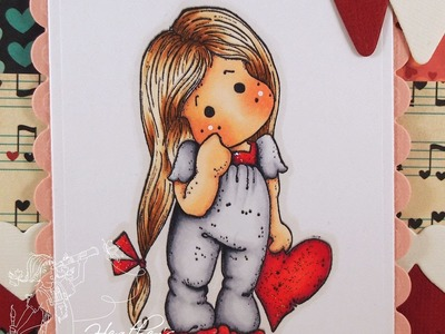 Lonely Tilda with Her Heart Copic Coloring Card Kit