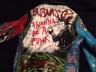 My Punk DIY leather jacket.