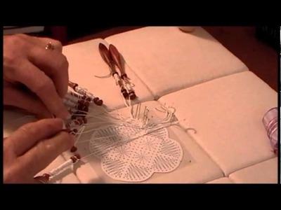 Nancy Today: How to make a bobbin lace fan 2 Tombolo ASMR Blen