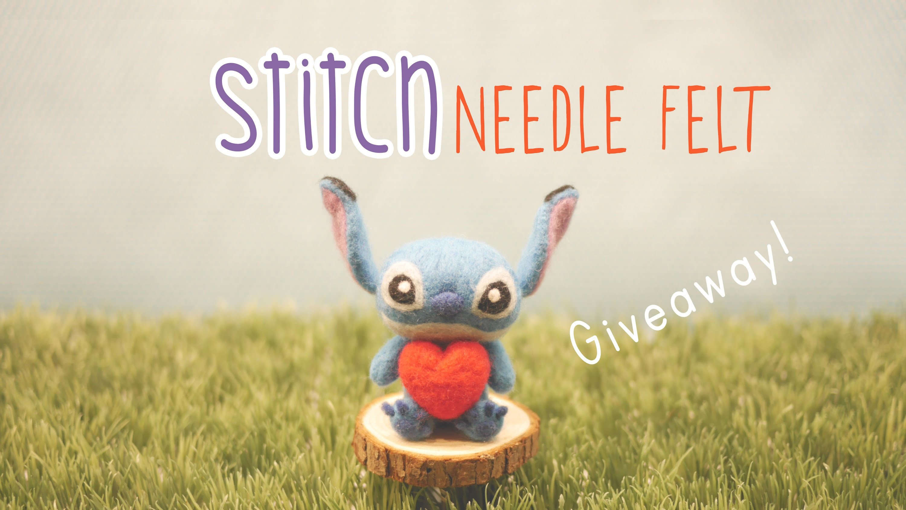 Needle Felted Stitch Tutorial - Giveaway [CLOSED]