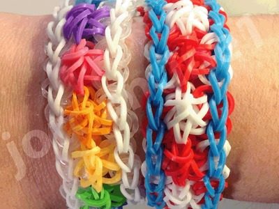 New Rainbow Loom Star Swirl Bracelet - One or Two Looms - Crazy Loom, Wonder Loom, Bandaloom