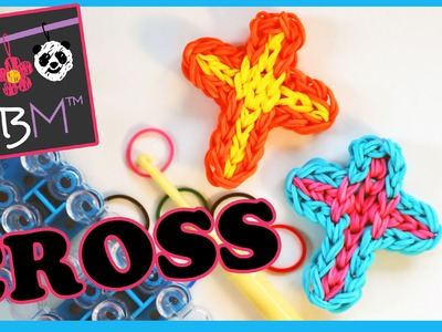 Rainbow Loom Band Cross Charm | Tutorial on How to Make