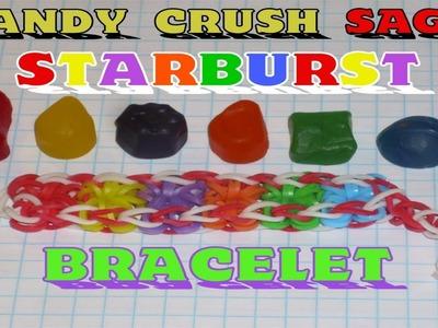 "Rainbow Loom® ""Candy Crush"" Starburst Bracelet Tutorial"