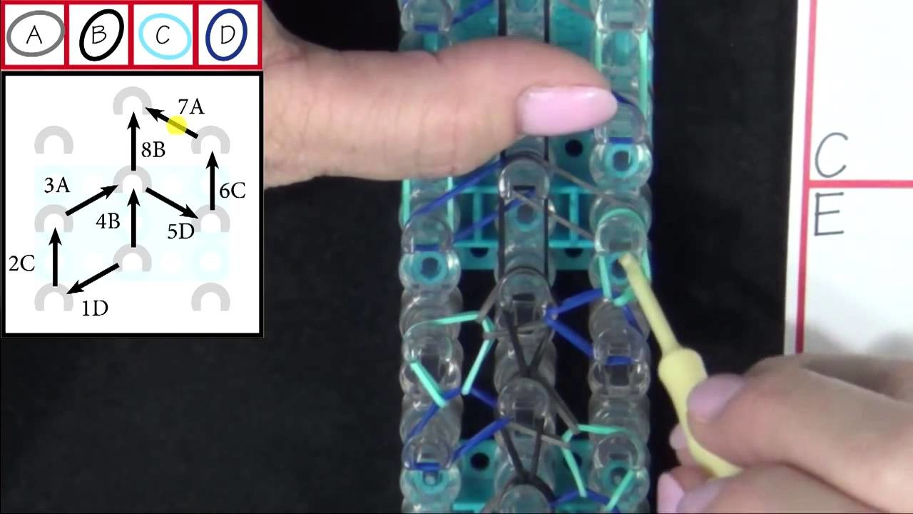 Rainbow Loom: Serpentine Bracelet  Tutorial
