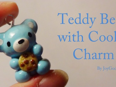 ♡ Teddy with a Cookie Charm ♡ - Polymer Clay {JoyGodwinArts} ❤