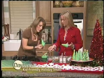 The Hungry Housewife. Daytime Segment Icecream Cone Christmas Trees