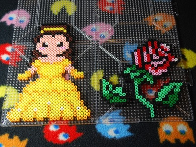 ~ Belle and Rose (beauty and the beast) ~ Perler Bead (Stop Motion)