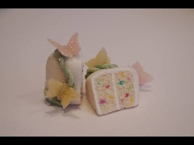 Confetti Cake Tutorial, Miniature Food Tutorial, Polymer Clay Food