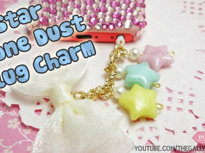 Cute Stars Dust Plug Charm Polymer Clay Tutorial - How To