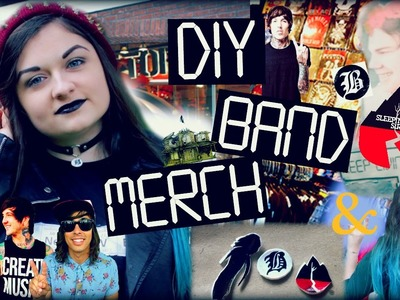 DIY BAND MERCH! T-Shirts, Band Bracelets, Chokers