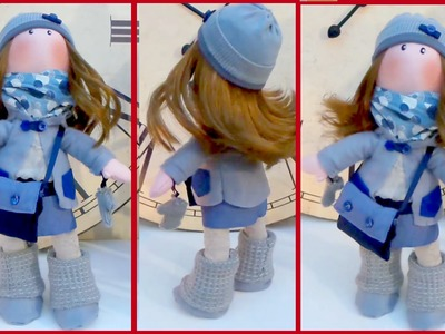 DIY crafts: Gorjuss rag doll tutorial easy CRAFT - handmade - Youtube - Isa ❤️