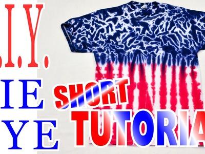 DIY Tie Dye Shirt- Red White & Blue [Short Tutorial]