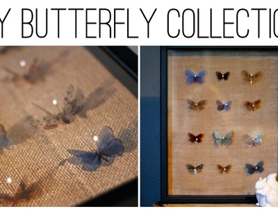 DIY Vintage Butterfly Collection