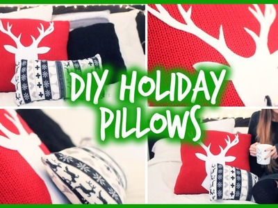 Easy DIY Holiday Pillows to Decorate for Christmas!