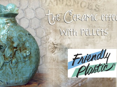 Faux Ceramic Bottle with Friendly Plastic Pellets - Upcycle and Recycle