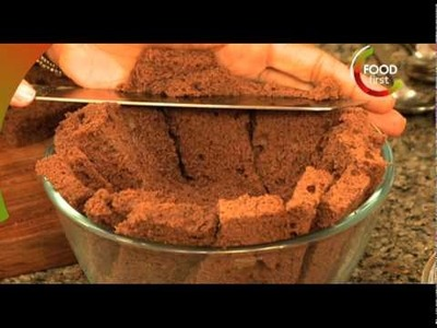 How to cook Chocolate Zucotto - cake and ice cream delight -Sweet and Tasty