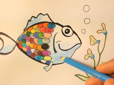 How To Draw Rainbow-Rainbow Fish