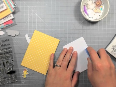 How to make a baby shower card