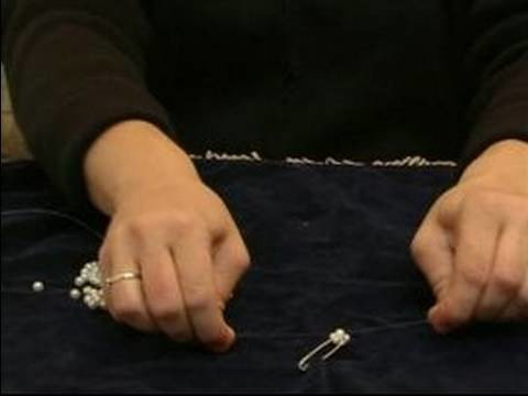 How to Make Beaded Necklaces : How to Thread Beads for a Pearl Necklace
