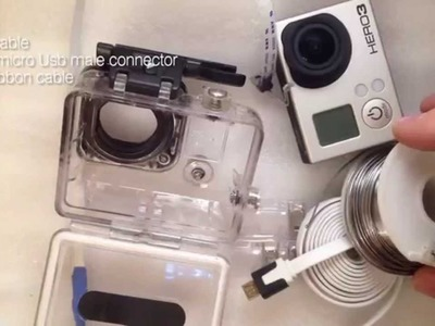 How to make GoPro external power cable without housing modification. Tutorial.