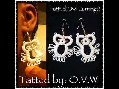 IT'S TIME TO TAT! (Tatted Owls Earrings)