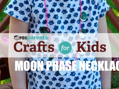 Moon Phase Shrinky Dink Necklace | Crafts for Kids | PBS Parents
