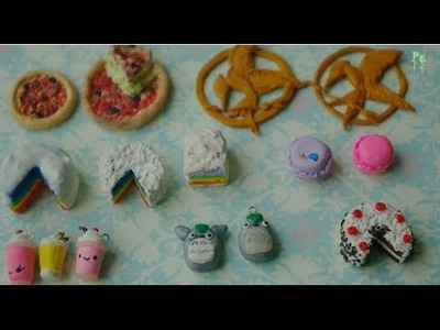 Polymer Clay Charms ~ Before and After