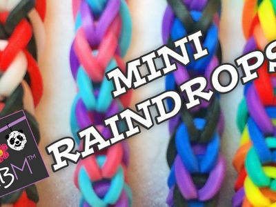 Rainbow Loom Bracelet - Mini Raindrops Fishtail on the Monster Tail