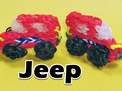 Rainbow Loom JEEP. BUS Charm (Cars)