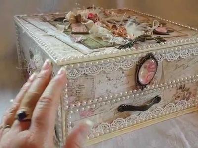 Shabby Vintage Altered Box for Craft Fantastic