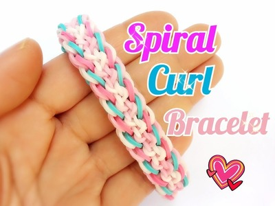 Spiral Curl Rainbow Loom Bracelet Tutorial ~ How To