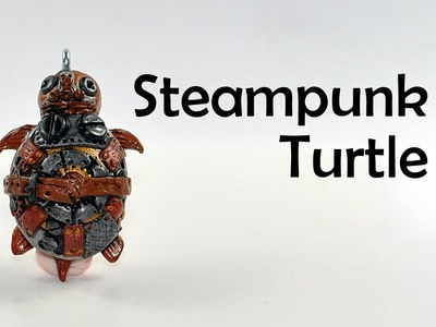 Steampunk Turtle charm - polymer clay TUTORIAL
