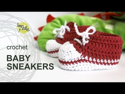 Tutorial Baby Crochet Sneakers in English