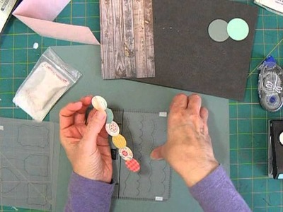 Using the Stampin' Up! Paper Piercing Pack to create a scallop border with a circle punch