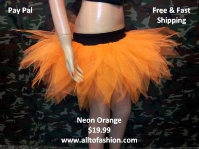 Uv Neon 7 Layer Multi Rainbow Puffy Tulle pointed tutu skirt Race Dance Fancy Costume Halloween