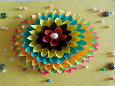 Wall Decoration Ideas : How to Make Paper Flower Craft for Wall Decor