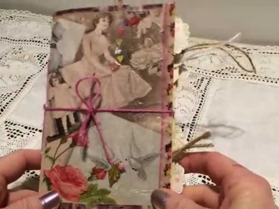 A small junk journal with one signature